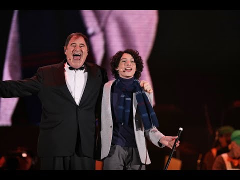 Finn Wolfhard & Richard Kind in Willy Wonka Live-To-Film at The Hollywood Bowl