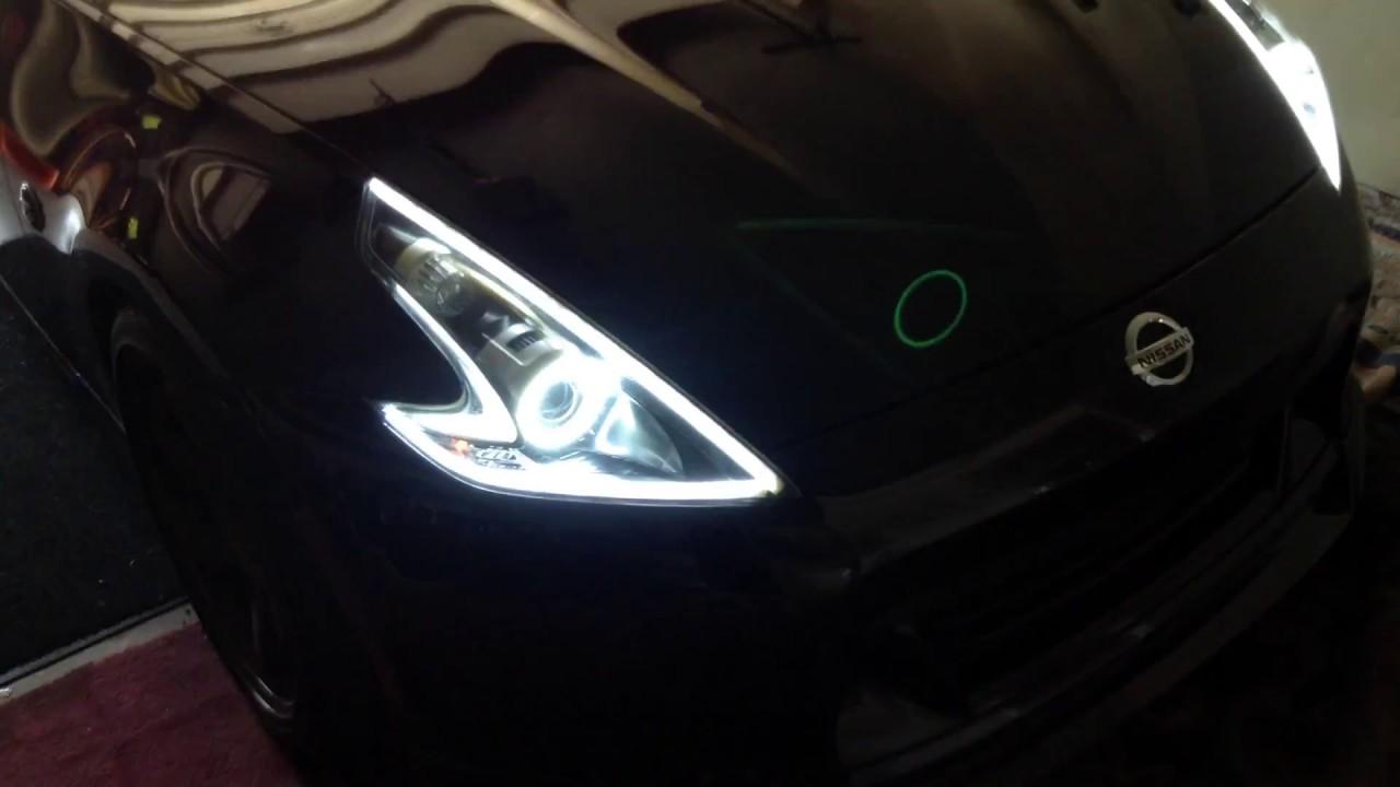 370z Headlight mods, DRL - YouTube