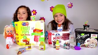 Zoey finds the ALL NEW Frozen Shopkins Real Littles Season 13 | Skit + Unbox