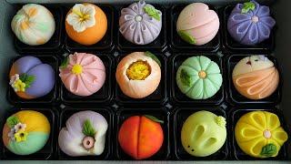 традиционные японские сладости, цветочный торт - корейская уличная еда