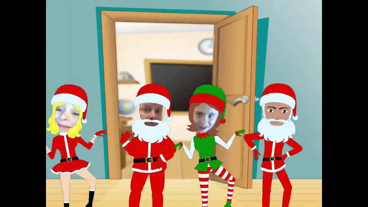 animate me christmas dance video maker santa claus movie youtube