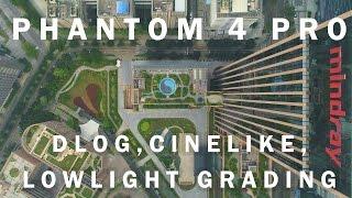 Phantom 4 Pro w in DLog, Cinelike, Filmconvert. Drone + PolarPro ND - 4K