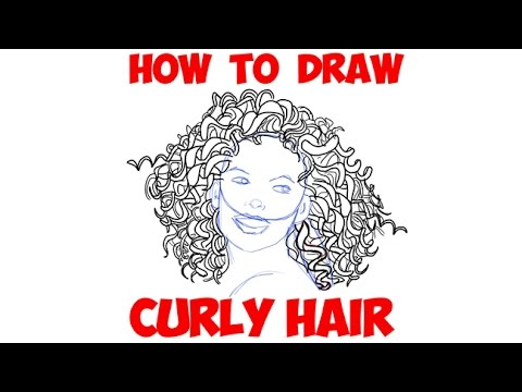 how to draw ethnic hair