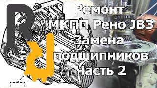 Ремонт МКПП РЕНО JB3 часть2