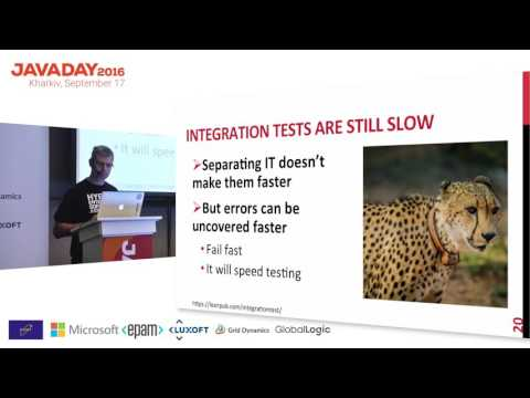 """JavaDay Kharkiv 2016: Nicolas Frankel """"Integration Testing from the Trenches"""""""
