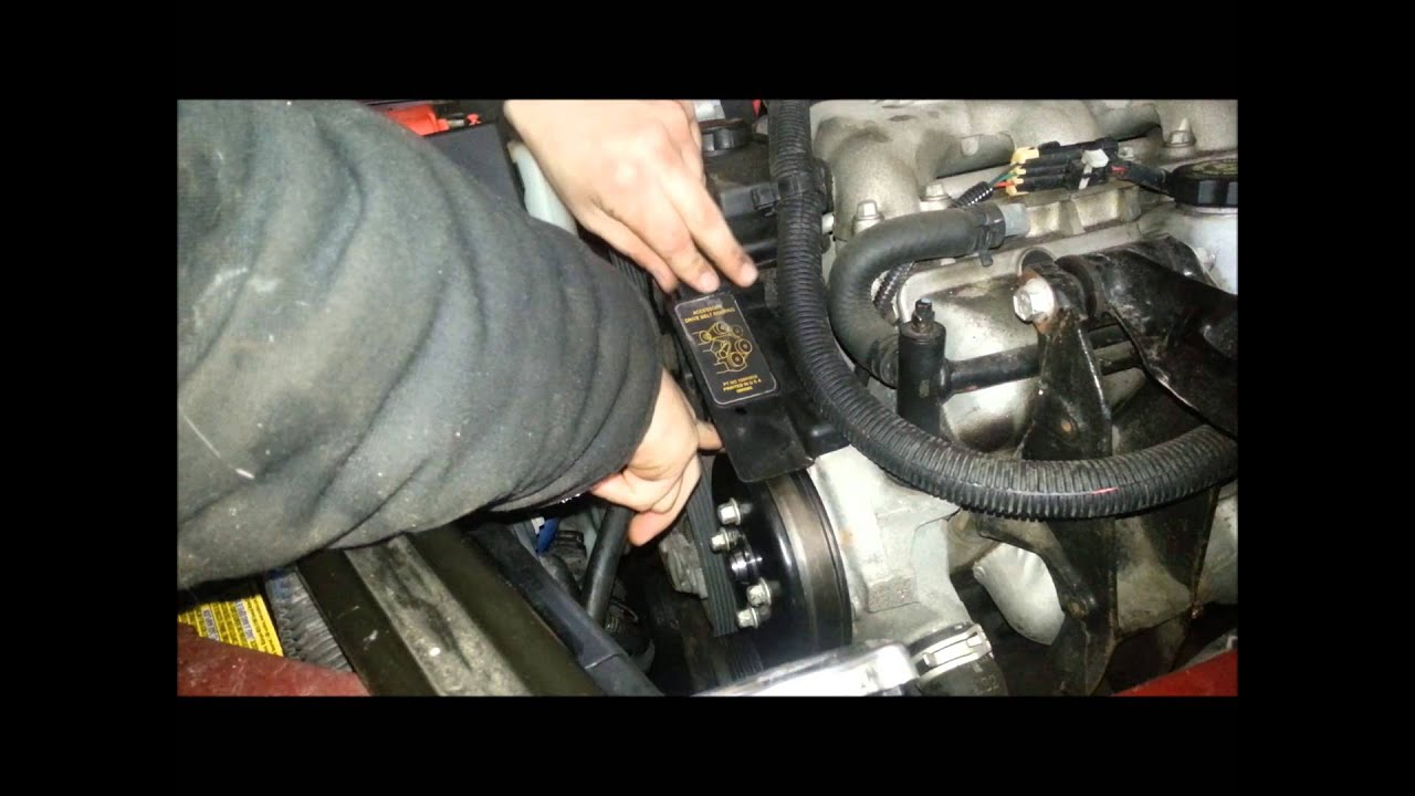 serpentine belt install 3 1 3 4 v6 youtube. Black Bedroom Furniture Sets. Home Design Ideas