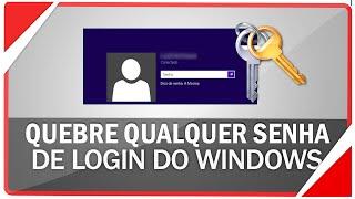 Como quebrar qualquer senha de login do Windows 7, 8.1 ou 10