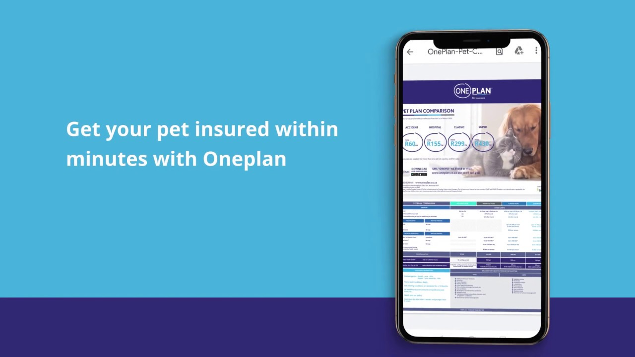 Choose Oneplan Pet Insurance - YouTube