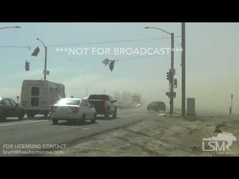 04-17-2018 Denver Co Dust Storm 70 MPH Damaging Winds