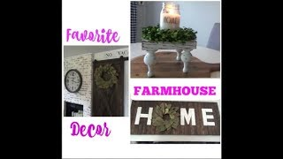 MY FARMHOUSE DECOR FAVORITES / FARMHOUSE DECOR / FARMHOUSE 2018