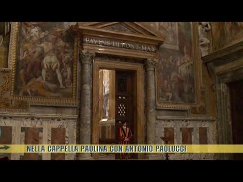 Nella Cappella Paolina con Antonio Paolucci