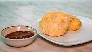 Жареные крокеты картофельные. Начинка с ветчиной и сыром, что приготовить на ужин