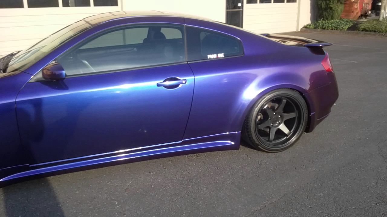 New Infiniti G35 Coupe >> G35 gloss chameleon vinyl wrap - YouTube
