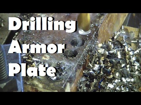Making holes in Armor Plate. Cheap twist drill vs. good twist drill