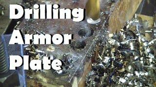 Making holes in Armor Plate. Cheap twist drill vs. good twist drill