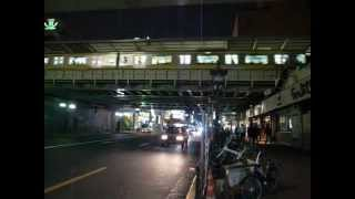 Elevated Train Passes Main Street (Kameido Sounds) 亀戸電車の音 (121025)