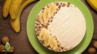 Банановый ЧИЗКЕЙК БЕЗ ВЫПЕЧКИ с творожным сыром ПРОСТОЙ рецепт