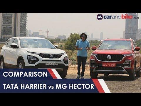 MG Hector Takes On Direct Rival Tata Harrier NDTV | carandbikes
