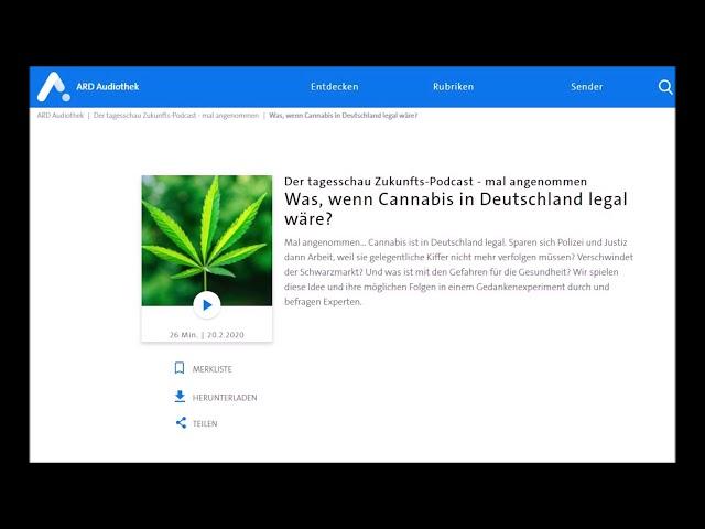Was, wenn Cannabis in Deutschland legal wäre? 22.02.2020