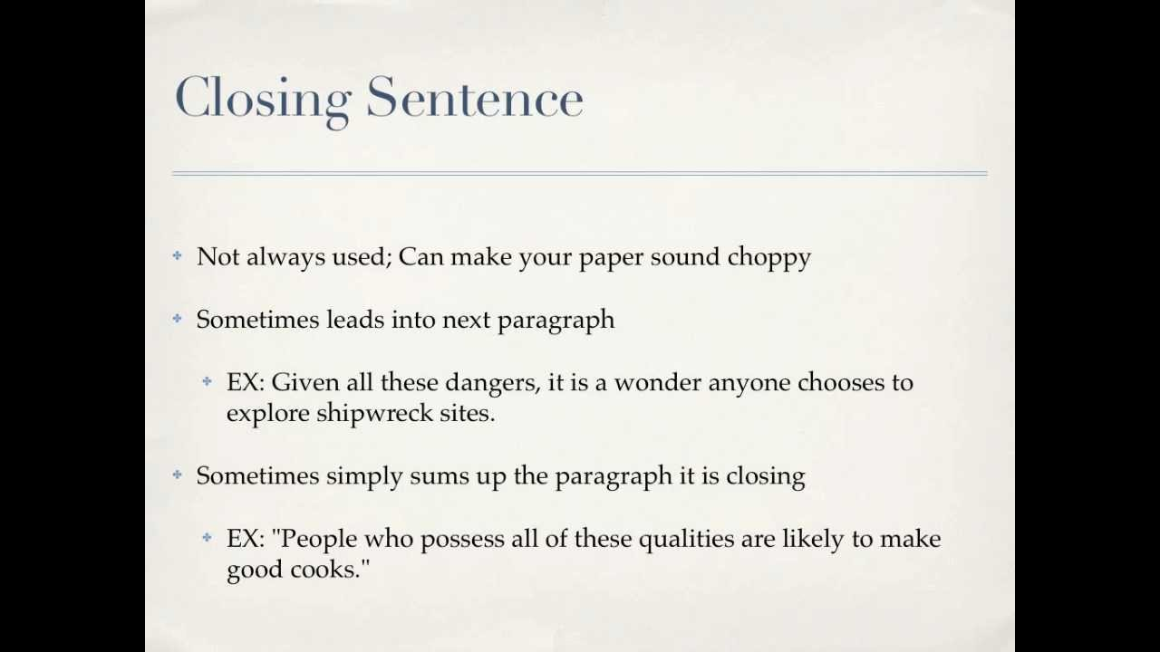 Writing A Body Paragraph Informational Essay Youtube