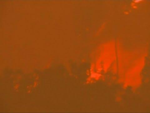 Raw: Authorities Battle Raging Blaze in Portugal