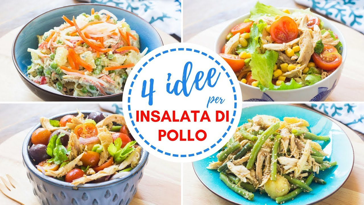 4 idee per insalate di pollo ricette insalate facili e for Ricette insalate