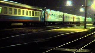 Скорый поезд №66 Кишинев-Москва. Прибытие поезда. Станция Калуга 2