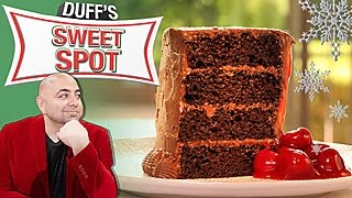Duffs Cherry Pie Stuffed Chocolate Cake