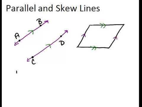 Parallel And Skew Lines Lesson Geometry Concepts Youtube
