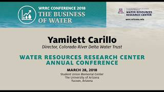 THE ENVIRONMENT AND THE BUSINESS OF WATER – WRRC Conference 2018