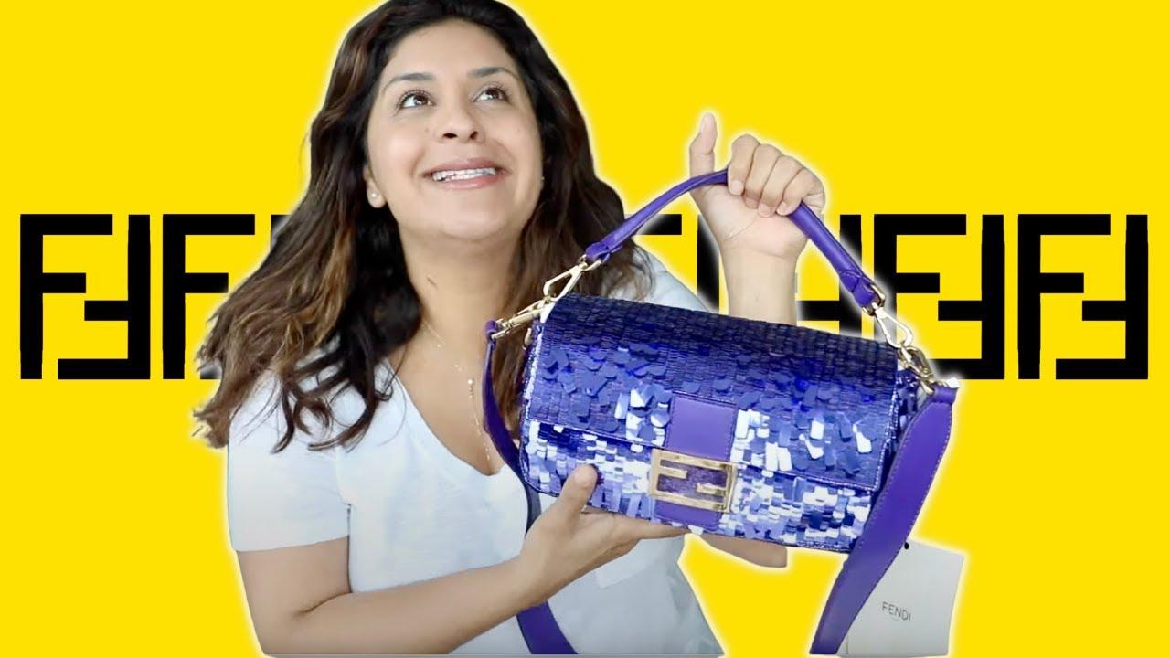 FENDI PURPLE SEQUIN BAGUETTE - Is It Worth It?? Carrie Bag - Sex & The City