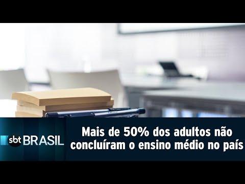 Mais da metade dos adultos não concluíram o ensino médio no Brasil | SBT Brasil (11/09/18)