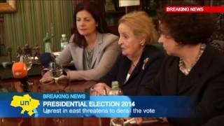 Yulia Tymoshenko meets former US Secretary of State Madeleine Albright on eve of Ukraine election