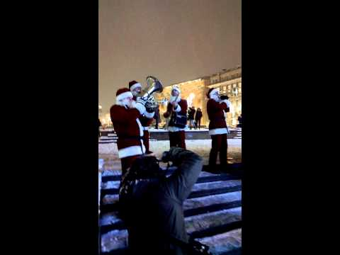 01 Valeriy Bukreev Santa Claus Jazz Band 2014 Moscow Mayor Sergei Sobyanin Opens a Christmas Fair at