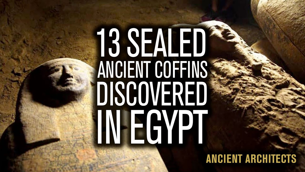 13 Sealed Ancient Egyptian Coffins Discovered in Saqqara in Egypt | Ancient Architects