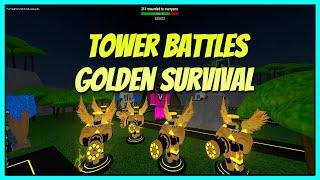 Roblox Tower Battles Golden Survival Triumph | Golden Commando and Golden Scout Gameplay!
