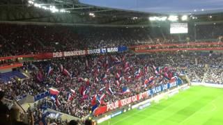OL - Monaco : le ahou des Lyonnais et le tifo