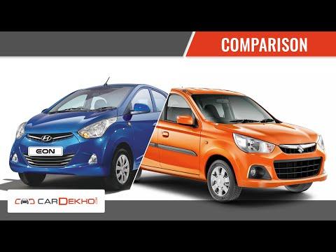 Hyundai Eon Vs Maruti Suzuki Alto K10 | Comparison Video | CarDekho.com