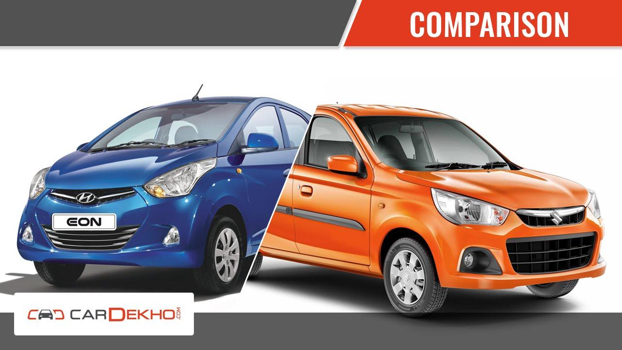 Hyundai Eon Vs Maruti Suzuki Alto K10 | Comparison Video ...
