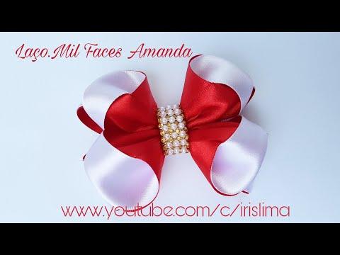 Laço de Fita de Cetim 30 mm 🎀 Laço Mil Faces Amanda 🎀 DIY 🎀 PAP 🎀 TUTORIAL