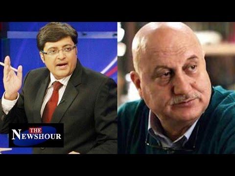 Anupam Kher BAN at NIT Srinagar : The Newshour Debate (11th April 2016)