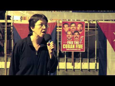 Gloria La Riva at the SF Cuban Five Celebration, 12/18/14
