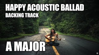 Happy Acoustic Ballad Guitar Backing Track In A Major