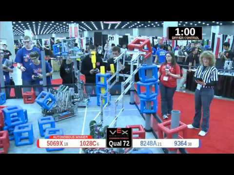 2015 VRC Engr Q72 - 5069X 1028C vs 8248A 9364 - 79 to 61 - VEX Worlds 2015 - Engineering Division