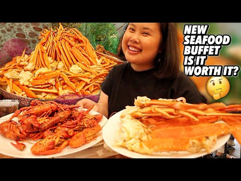 ALL YOU CAN EAT SEAFOOD BUFFET MUKBANG 먹방 EATING SHOW (SNOW CRAB LEGS + ESCARGOT SNAILS + CRAWFISH)