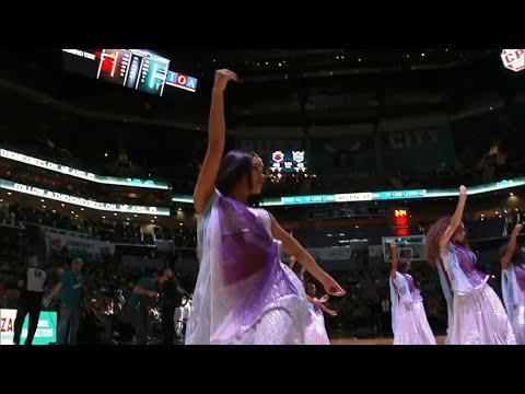 (HQ) Ghoomar - Padmaavat Bollywood Dance at Charlotte Hornets vs Miami Heat NBA game