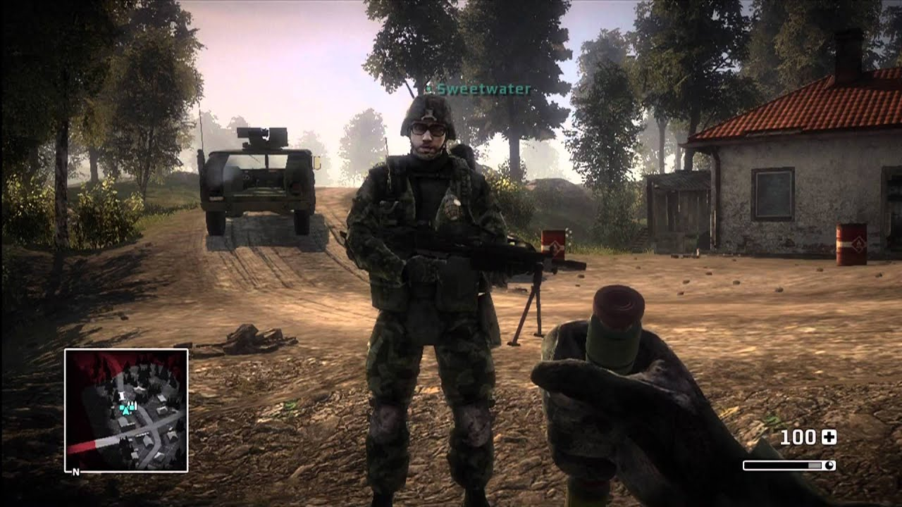 battlefield bad company gameplay part 1 xbox 360 ps3 youtube