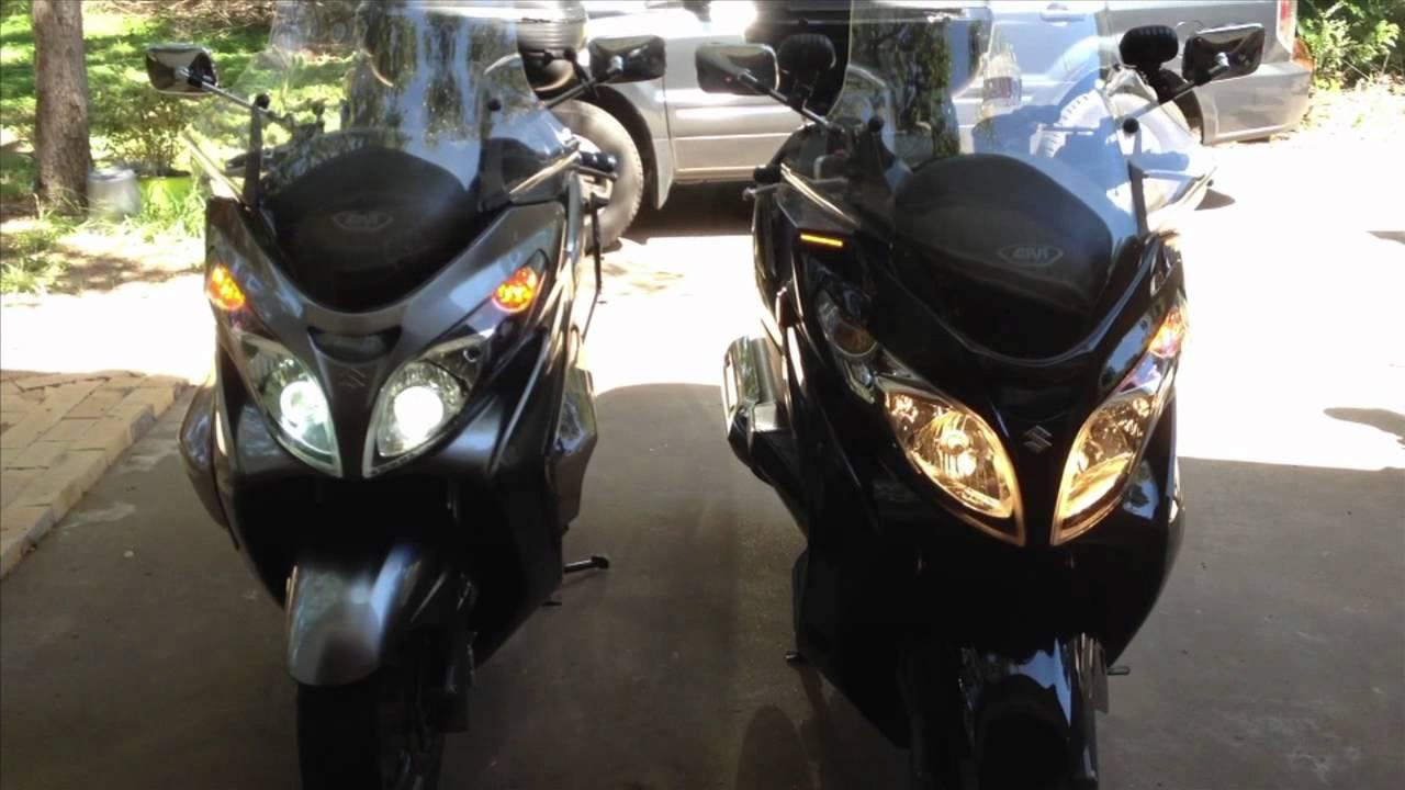 Suzuki Burgman Parking Light To Left