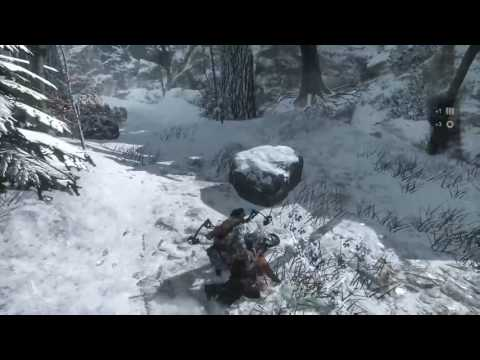 Rise of the Tomb Raider bits of action with cqc and bow