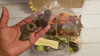 Fall embellishment box swap with Adrienne,  Shades of Crafty by Adrienne 👀😍